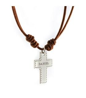 Cruz de plata personalizada para comunión