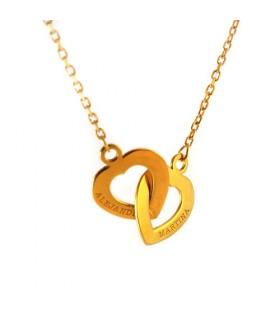 collar personalizado Cuori oro