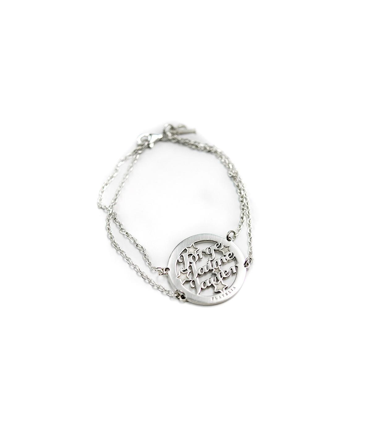 d5de947f488d Pulsera de plata personalizada Amore con cadena. Joyas para regalar    Platelia