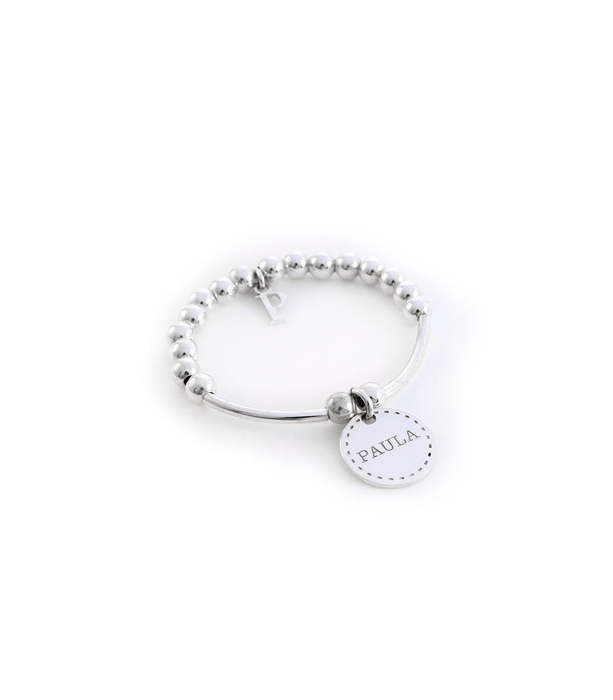 93d4fb60cb55 Pulseras de plata personalizadas con nombres para niñas – Bambina ...