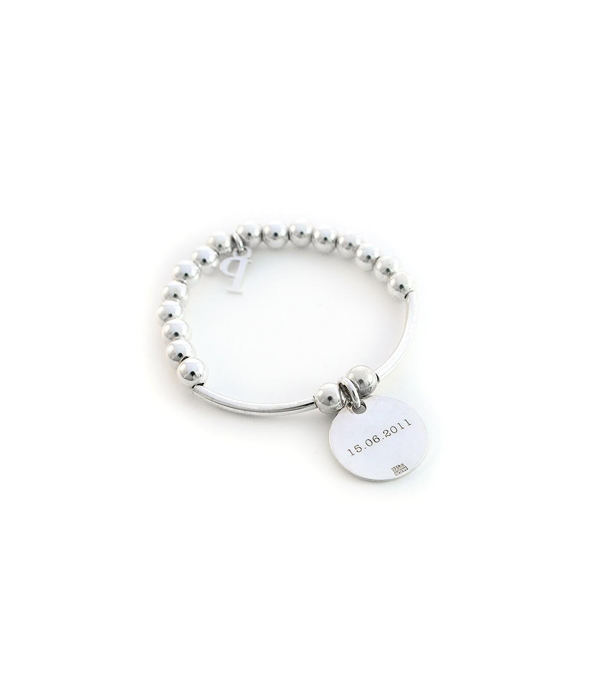 af60b669ddd6 Pulseras de plata personalizadas con nombres para niñas – Bambina ...