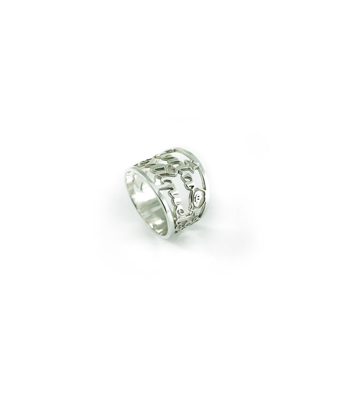 21c0b19d68b8 Anillo de plata personalizado Amore. Joyas para mujer   Platelia