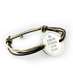 pulsera de plata personalizada con nombres y dibujos