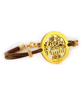 pulsera personalizada chapada en oro