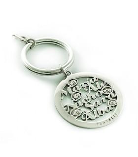 Llavero personalizado de plata Amore