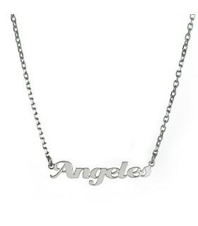 collar personalizado con nombre de plata nome