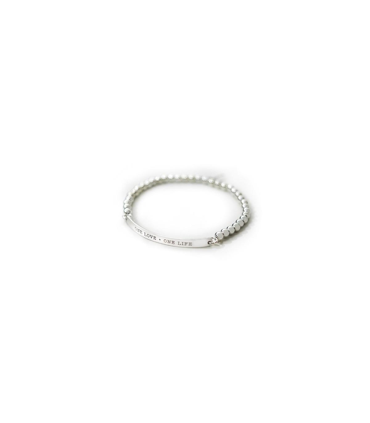 f0bf2fc56cfd Pulsera de plata personalizada Nexo bolitas. Joyas para mujer