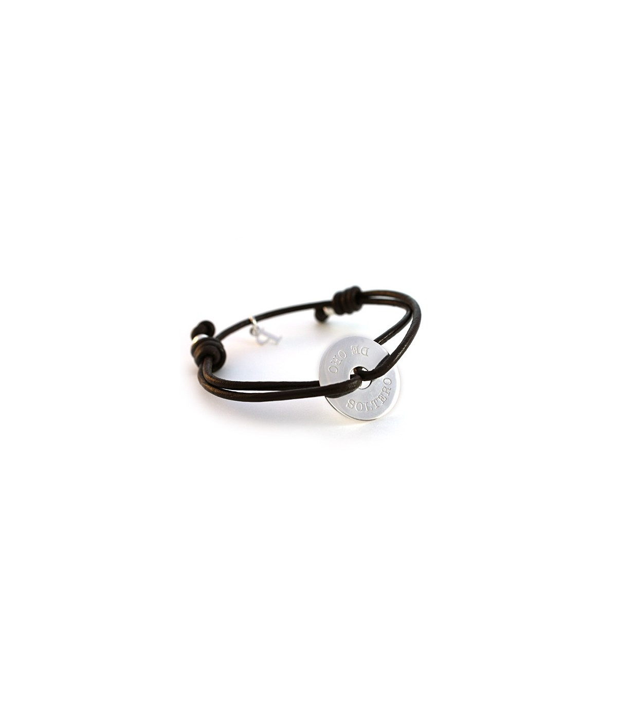 085b89d61bff Pulseras de cuero y plata personalizadas – Donut - Joyas de moda ...