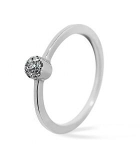 Anillo de compromiso oro blanco y diamantes