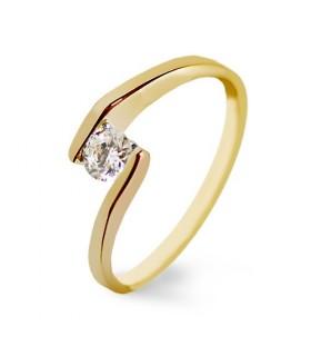 Anillo de compromiso oro amarillo y diamantes