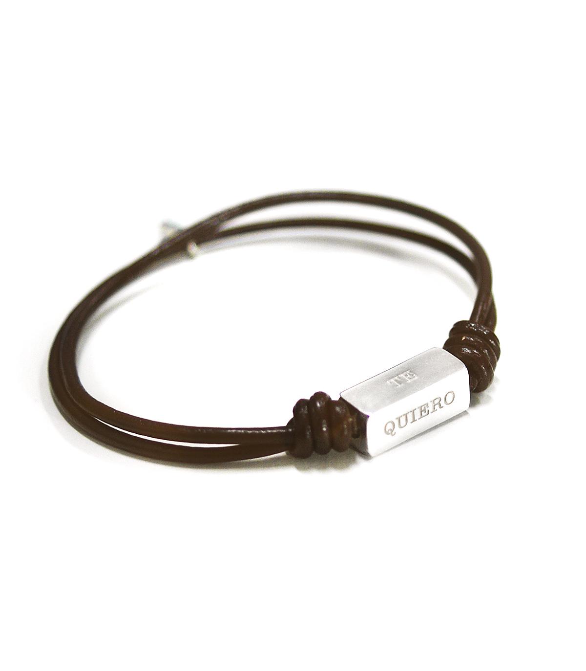 36276081c3d8 Pulseras de cuero y plata personalizadas – Tube - Joyas de moda para ...