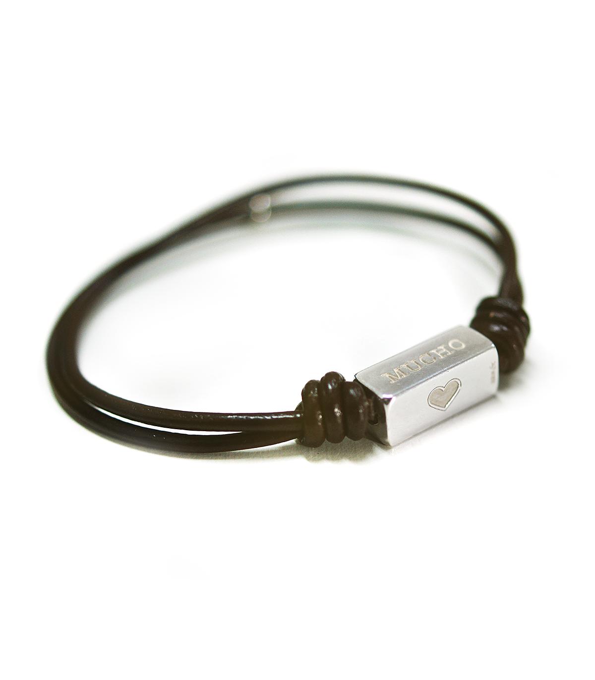 2c84764df87b Pulseras de cuero y plata personalizadas – Tube - Joyas de moda para ...
