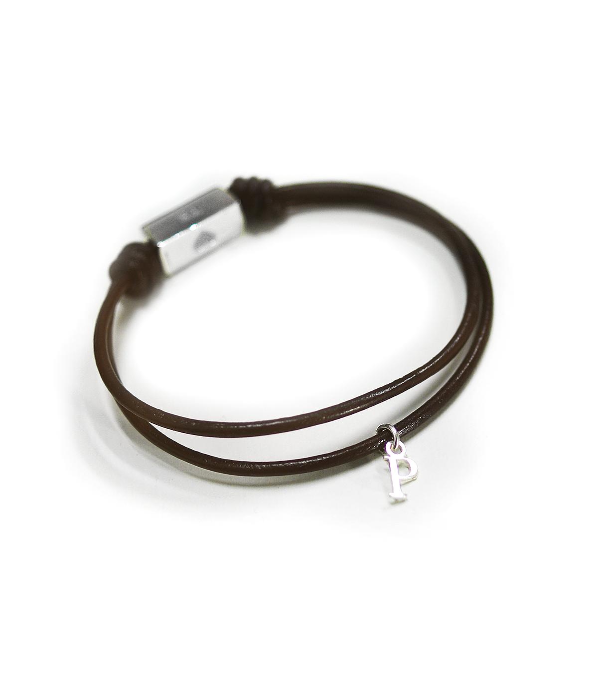 1003903f97a1 Pulseras de cuero y plata personalizadas – Tube - Joyas de moda para ...