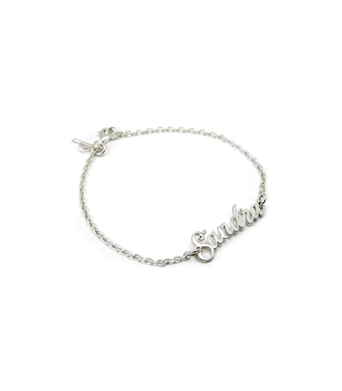 253a151e109a Pulsera de plata personalizada con nombre. Joyas para mujer
