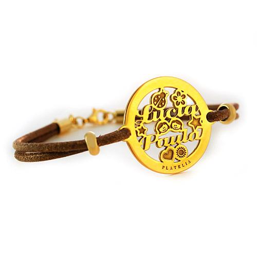 pulsera personalizada amore oro