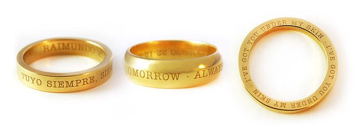 anillos personalizados en oro
