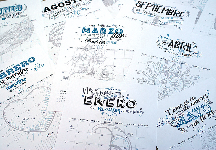 calendario 2018 gratis imprimible