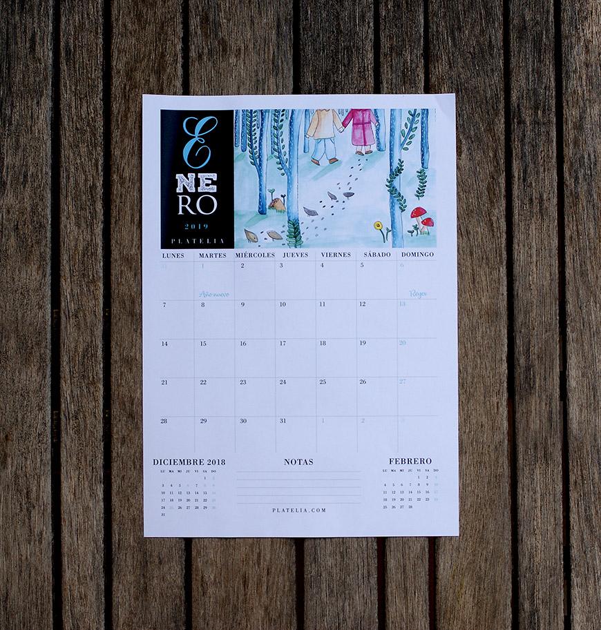 calendario 2019 gratis imprimible