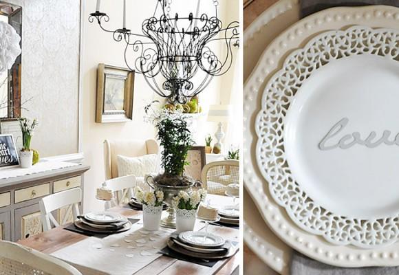 Ideas para decorar la mesa en San Valentín