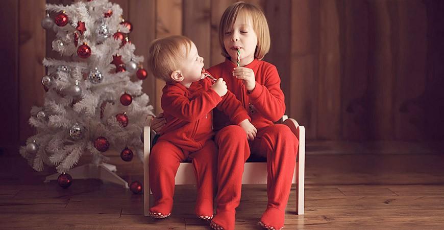 Ideas de fotos en familia para felicitar la navidad