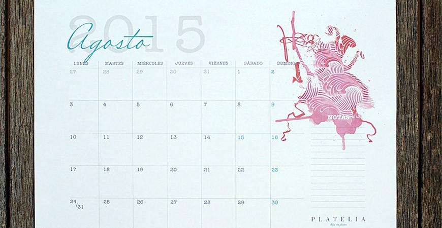 Calendario 2015: hecho con mucho love