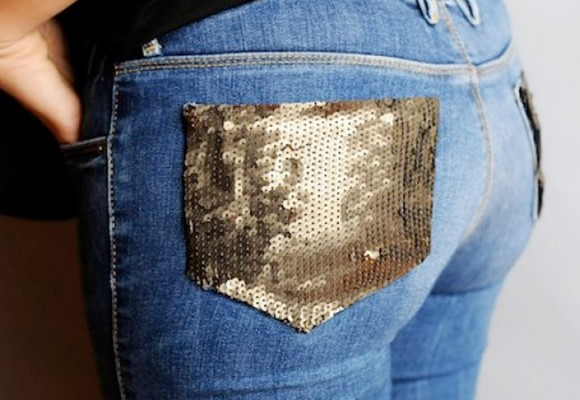 FASHION DIY: Jeans con un toque de brillo
