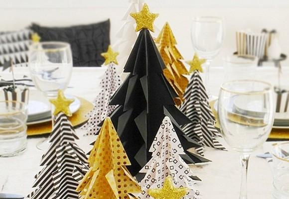 Ideas de decoración para la mesa de Navidad
