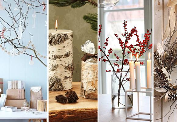 Decoración de navidad con aire escandinavo
